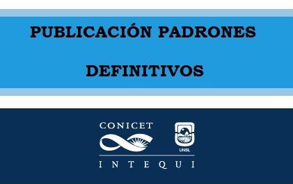 PADRONES BECARIOS